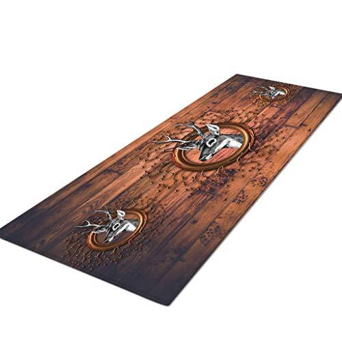 Küchenteppiche Runner Serria® 40x120cm rutschfeste Küchenmatte und Teppichset Fußmattensatz aus Gummi Maschinenwaschbar Teppich wasseraufnahme, Nicht leicht zu Pilling 40x120cm Mehrfarbig - Läufer Teppich Wieder Gummi