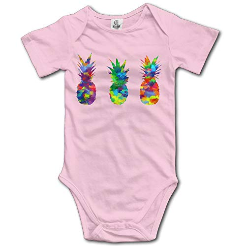 dsfsa Babybekleidung Pineapples Watercolor Painting Funny Baby Onesie Cute Cartoon Logo Print Collectible Novelty Romper Baby Bodysuit Carters 5 Pack Onesies