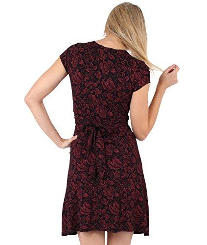 KRISP Damen Kleid 6610 Rot (Weinrot/Schwarz 41)