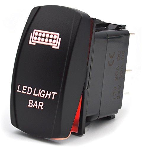 Interruptor de Palanca encendido / apagado 5 Pines barra de luz led...