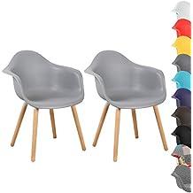 WOLTU® BH37gr 2 Esszimmerstühle 2er Set Esszimmerstuhl Mit Lehne Design  Stuhl Küchenstuhl ...
