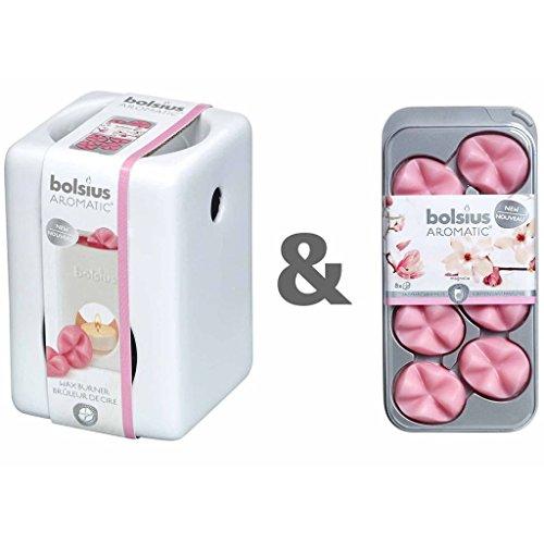 bolsius Duftwachs Aroma Wachs, rosa, 20 x 10 x 2 cm, 8-Einheiten