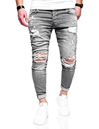 52e12b56ca55 Rello   Reese Herren Jeans Destroyed Slim Fit Hose Chino Jeanshose RNJ-3296