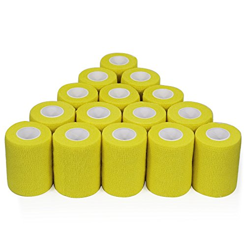 152cm Verbände kohäsive Bandage 7,5cm x 4,5m 16Stück FDA genehmigt, gelb