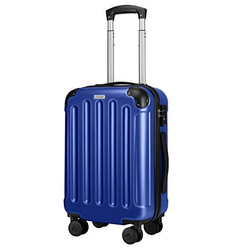 Amasava Koffer Handgepäck Hartschalen 4 Rollen Koffer Set Trolley mit TSA Zahlenschloss Reisekoffer Set ABS + PC Hartschale Rollkoffer Gepäck Set 55 cm/37L...