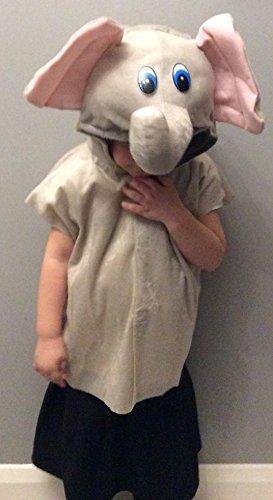 nt gildenwams und Genickstück Med 7–9Yrs (Elefanten Hund Kostüme)