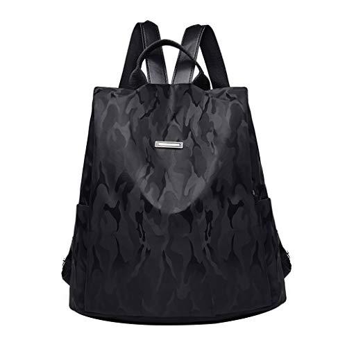 Zaino Donna Borse a Spalla Zaino alla Moda con Tracolla Casuale Daypack Borse a Mano Backpack Daypack per Scuola Viaggio Lavoro Nera/Marrone Borse a Zainetto (M, Nero!)