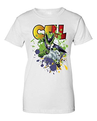 Give Your Power | Dragon Ball | DBZ | Cell | Manga | Anime Series | Super Hero | Galaxy | Swag | Cool | Like A | Dope Camiseta de Mujer X-Large