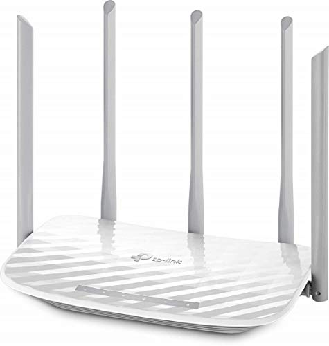TP-Link C60 Archer - Router Wi-Fi AC1350 Dualband 450 Mbps 2.4 GHz e 867 Mbps 5 GHz, 5 Antenne, Parental Control e Rete Ospiti, Gestione APP Tether per IOS/Android, Bianco