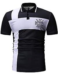 FIRSS Männer Kurzarmshirt   Stehkragen Shirt Streifen Drucken Bluse Sommer T -Shirt Mode Lässig Kurzarm 343f2f0122