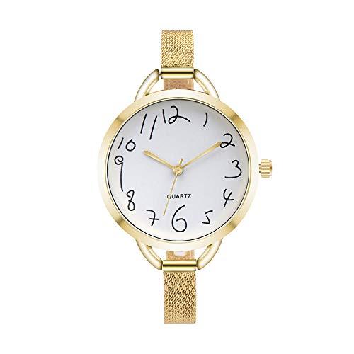 Uhren Frauen Beiläufiges Kristalledelstahl-Analoges Zeiger-Quarz-Armbanduhr-Kleid Einfaches Reloj Mujer Montre Femme