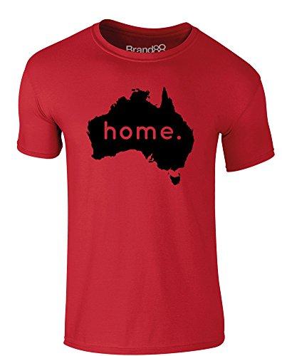 Brand88 - Home: Australia, Erwachsene Gedrucktes T-Shirt Rote/Schwarz