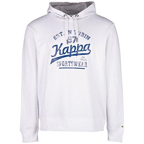 Kappa-Felpa Wanja con cappuccio, Uomo, Wanja Hooded Sweatshirt, bianco, XL
