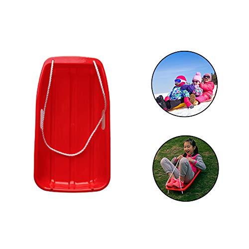 Firlar - Slittini da Neve per Bambini, in plastica, per Sport e Giochi di Neve, Downhill Sprinter Toboggan, con Corda Inclusa, RF55FM57MTEA17K, Rosso.