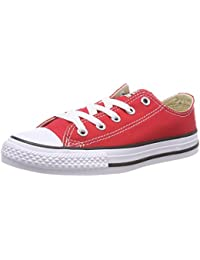 Converse Unisex Shoes Chuck Taylor All Star OX Red Sneakers (7 M US Infant)