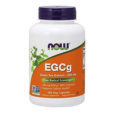 Now Foods, EGCg, extrait de thé vert, 400 mg, 180 gélules végétales, sans gluten, sans soja