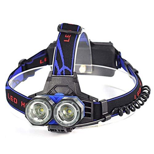 XSWZAQ Fari di Illuminazione per Pesca Glare Dual-Core Che caricano la Lampada da minatore a Lungo Raggio LED Esterno Super Luminoso