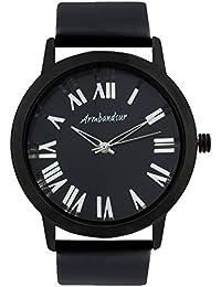 Armbandsur Analog Black & transparent dial and back Watch-ABS0009MTBB