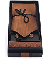 Tie Set, Tie, Handkerchief, Cufflinks, Gift Set - Various Colours Available
