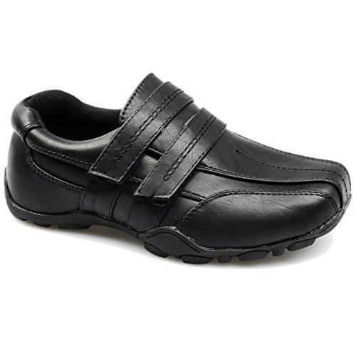 Kinder Schuhe für Jungen für Hochzeiten, Feste, Klettverschluss, rutschfest, Kunstleder Black / Max