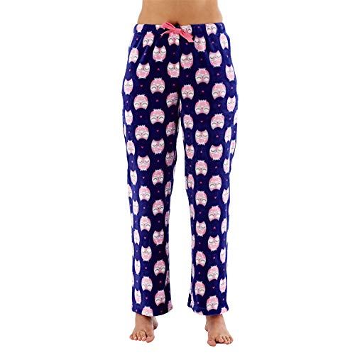 Selena Secrets Ladies Coral Fleece Lounge Pants Owl 16-18 -