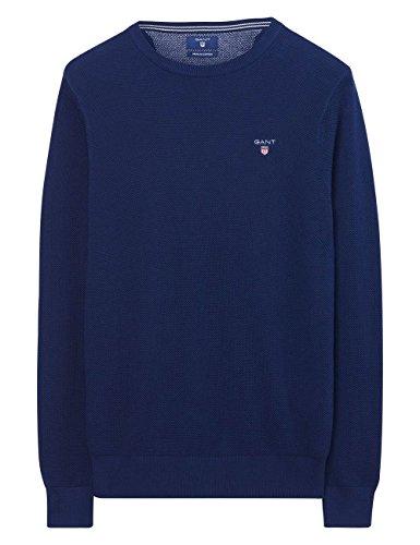 Gant Men's Men's Pique Red Sweater 100% Cotton Bleu persan