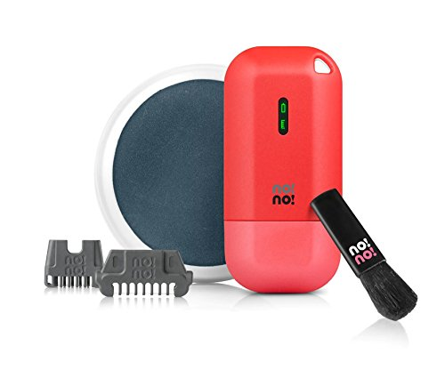 no!no! Micro Hair Removal Device for Face and Body, Red