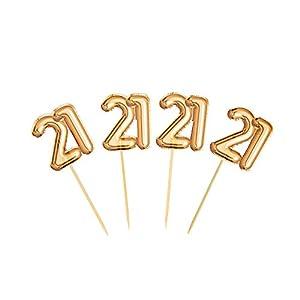 Neviti 773697Glitz y Glamour edad 21palillos para aperitivos, color dorado