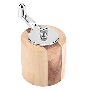 Manuelle Edelstahl Salzpfeffer Gewürze Mühle Set Meersalz Kräuter Gewürze Mühle Schleifwerkzeug Einfach zu reinigen mit langer Kurbel