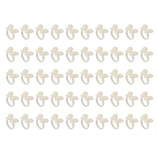 50 Stücke Nagellack Display, Polnischen Gel Nagel Diagramm Ring, blume Schmetterling Maniküre Tipp für Nail art Farbdisplay Werkzeug(Beige Butterfly) -