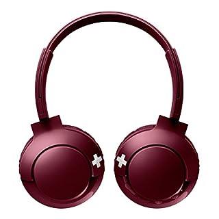Philips SHB3075RD/00 Bass+ On-Ear Bluetooth-Kopfhörer mit Mikrofon (12 Stunden Akku, satter Sound, starker Bass) Rot