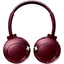 Philips SHB3075RD - Auriculares Inalambricos (Bluetooth, con micrófono, aislantes de Ruido, Plegables