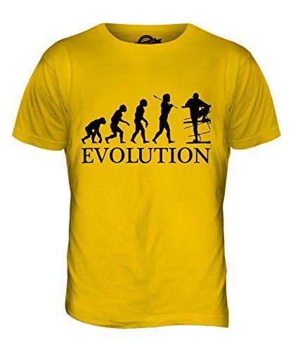 CandyMix Hindernislauf Evolution Des Menschen Herren T Shirt Dunkelgelb