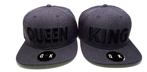 *Snapback King/Queen (KING & QUEEN, Grau Dunkel)*