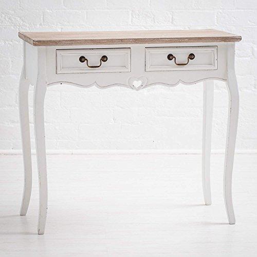Maine furniture co., vermont, tavolino, bianco, 87 x 38 x 80 cm