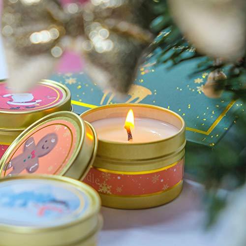 Decoraciones de Halloween Regalos Fiestas LA BELLEF/ÉE Velas arom/áticas Vegan Set de Regalo de Cera de Soja Navidad