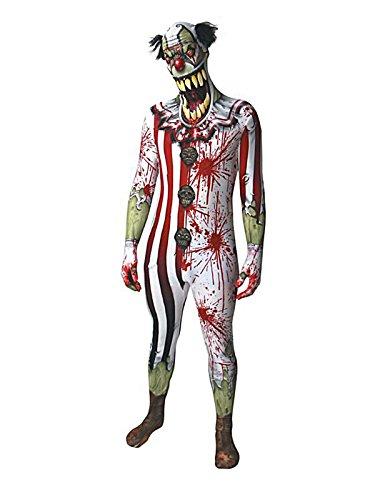 iger Horror-Clown Halloween-Morphsuit bunt XXL (ab 2,00 m) ()