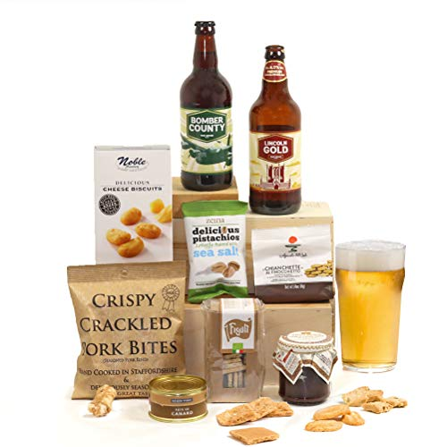 Gentlemen's Ale, Pate and Nibbles Hamper Box Gift for Him