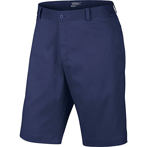 Nike Flat Front Short Pantalon pour Homme, Bleu foncé, 32