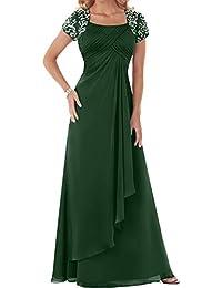 d50731d3f5a9 La mia Braut Hell Blau Damen Chiffon Langes Abendkleider Ballkleider  Brautmutterkleider Abschlussballkleider mit Kurzarm