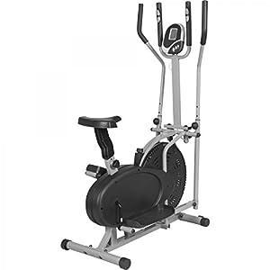 GORILLA SPORTS® Crosstrainer mit Trainingscomputer Grau - Ellipsentrainer bis...