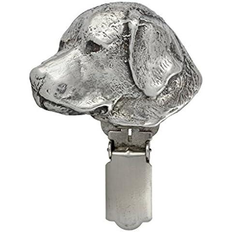 Labrador, segno distintivo in argento 925, fermaglio del cane , cane da esposizione anello della clip / numero di porta , in edizione limitata ,