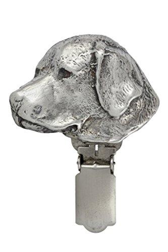 Labrador, Silberstempel 925, Hund clipring, Hundeausstellung Ringclip/Rufnummerninhaber, limitierte Auflage, Artdog