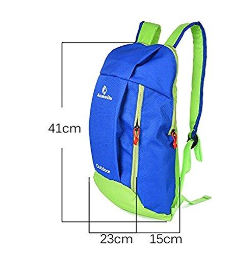Fastar 10L unisex nylon sport all' aperto Borsa da trekking escursionismo campeggio zaino Zaino da viaggio Blu