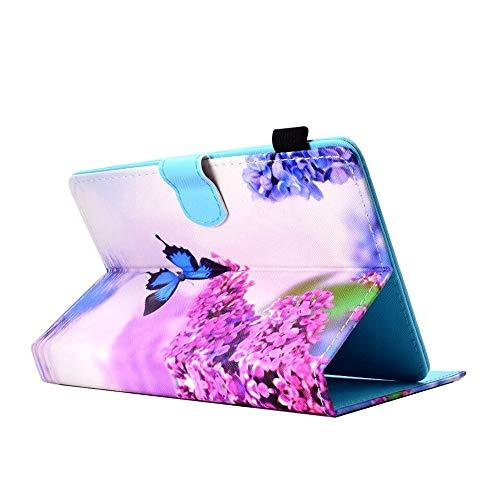 Schutzhülle kompatibel für 9,7 Zoll / 10,1 Zoll / 10 Zoll / 7 Zoll / 8 Zoll Android-Tablet, Universal Verstellbarer PU + Lederständer Case Cover (8-zoll - Ein Für Tablet-cases)