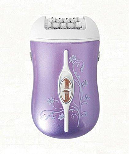 Bvc Professionelles Electronic Fußpflege Pediküre Set 3-in-1 Lady Aufladbarer Elektrischer Frauenrasierer,Purple