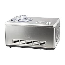 H.Koenig HF320 Macchina per Gelati e Sorbetti, 2L, Programmabile, Gruppo freddo integrato, Pronto in 40min, Acciaio Inox, 180W