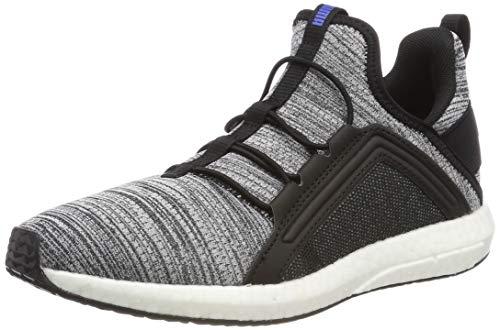 Puma Unisex-Kinder Mega NRGY Heather Knit AC PS Sneaker, Schwarz Black White-Indigo Bunting, 33 EU