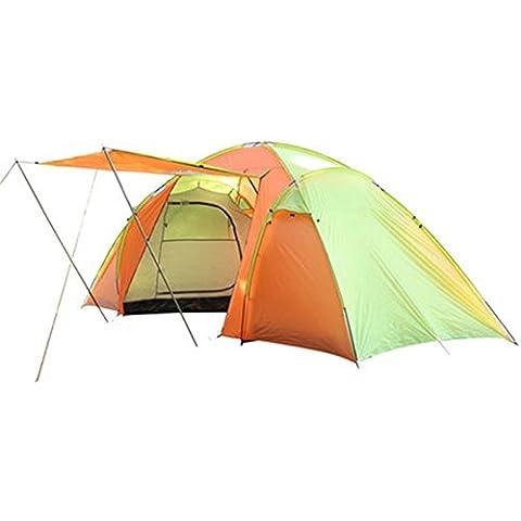 Equipo al aire libre Dos - Habitación Sala campo de la tienda 4-6 personas Ocio Tienda grande con hall ( Color : Multi - color )