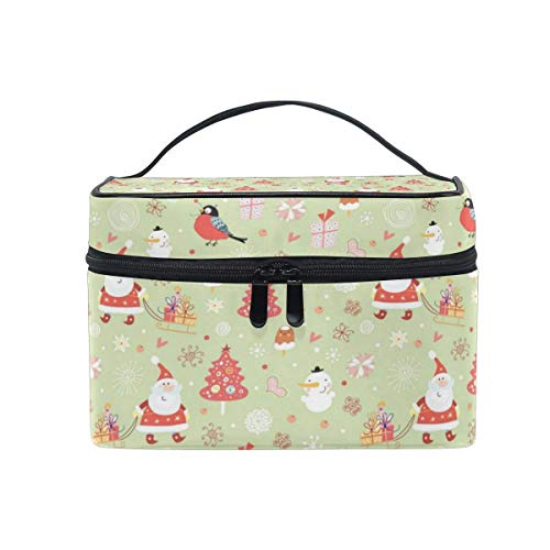 Tragbare hängende Make-up Kosmetiktasche Tasche,Travel Cosmetic Bag Tree Santa Toiletry Makeup Bag Pouch Tote Case Organizer Storage for Women Girls